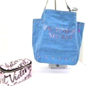 2 - New Victoria's Secret Carry All+Cosmetic Bag